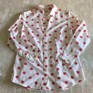 Boden Classic Polka Dot Shirt EUC